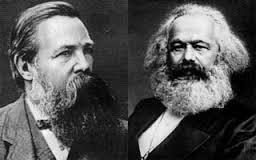 """Engels e Marx, Manifesto do Partido Comunista: """"A história da humanidade é a história da luta de classes""""."""